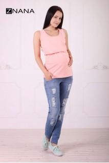 Майка Simple персик для беременных и кормящих
