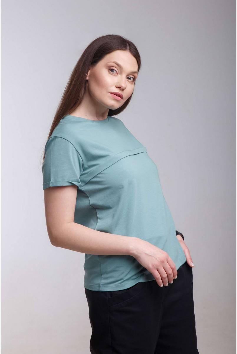 Футболка Move олива для беременных и кормления