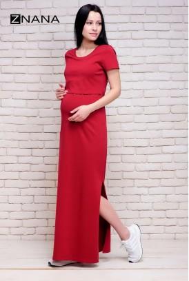 Сукня-футболка Simple вишня для вагітних і годування